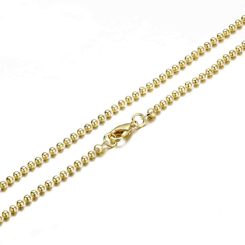 12PCS Gold Plated Brass Bead Ball Chains