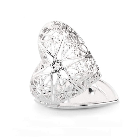 12 PCS Silver Plated Heart Shaped Photo Locket Aromatherapy Essential Oil Diffuser Locket Pendant