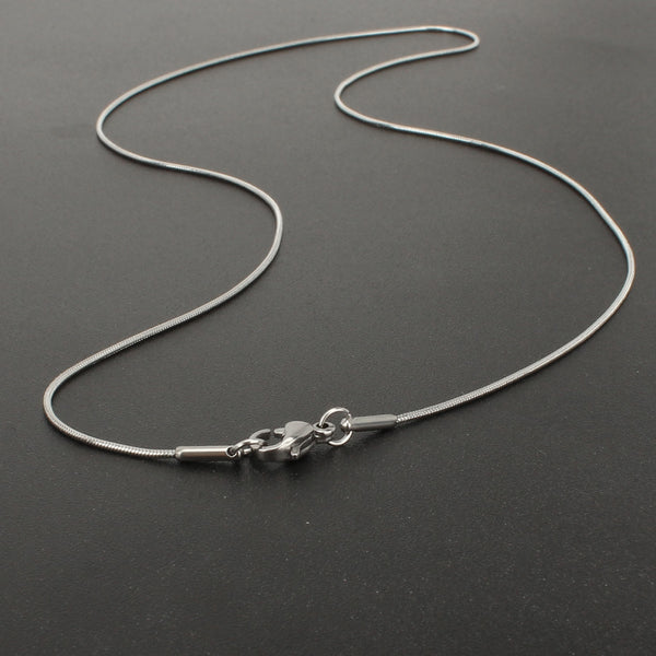 12 PCS Stainless Steel Snake Chain Necklace, 16-20 Inch