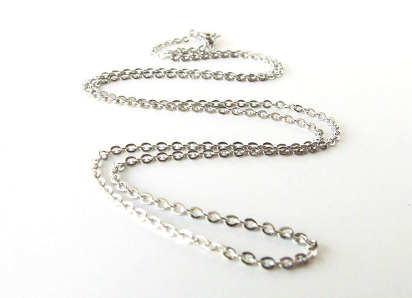 120PCS Stainless Steel Cable Chains for Jewelry Making 18-30 Inch