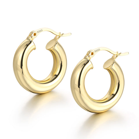 Small Chunky Hoop Earrings