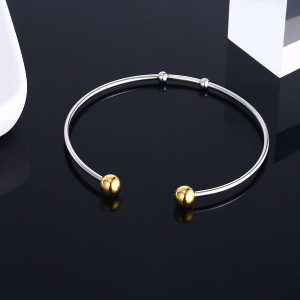 6PCS Stainless Steel Bangle Bracelet Wire Blank Charm Bulk for Jewelry Making