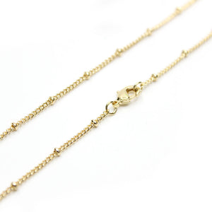 12 PCS Gold Plated over Brass Satellite Chain 16-30 Inches, 1.5MM