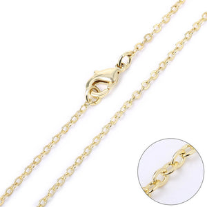 Wholesale 12 PCS Gold Plated over Solid Brass Chain 18-30 Inches, 2MM