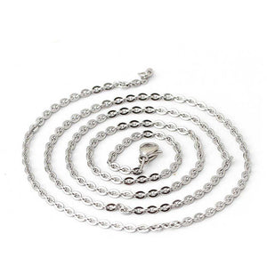12 PCS Stainless Steel Cable Chain 18-30 Inches, 2MM
