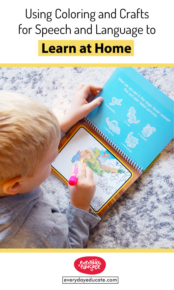 Using Coloring and Crafts for Speech and Language to Learn  at Home