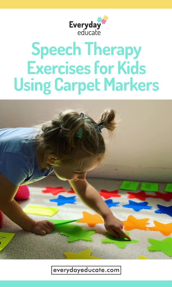 Speech Therapy Exercises for Kids Using Carpet Markers