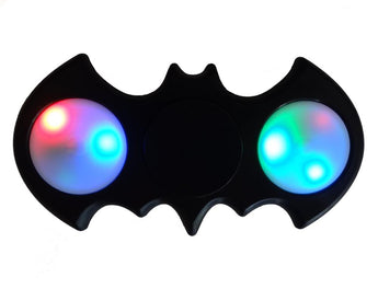 LED Bat Shaped Fidget Spinner - Black