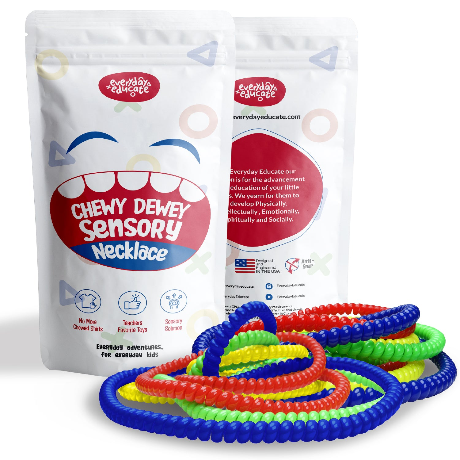 Chewy Dewey™ Sensory Necklace - (8 Pack)