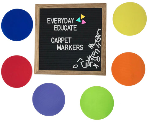 Everyday Educate Carpet Markers Sitting Spots - Amazing Classroom Supply, Flexible Seating - 5