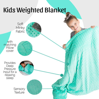Snug Bug Weighted Blanket for Kids with Pillow Cover