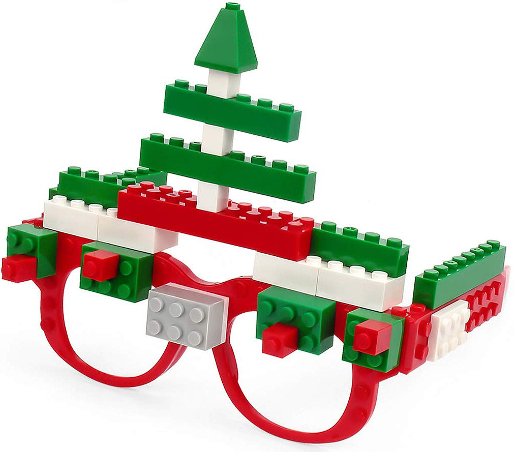 Building Brick Pixel Glasses