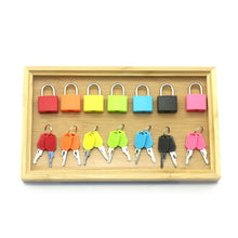 Sensory Locks Set With Bamboo Tray