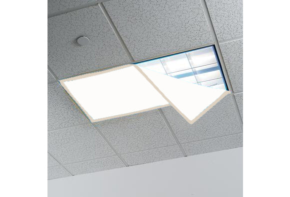 Fluorescent Light Covers >> Fluorescent Light Covers For Classroom Or Office 48 X 24 Inches Set Of 4 Off White Beige