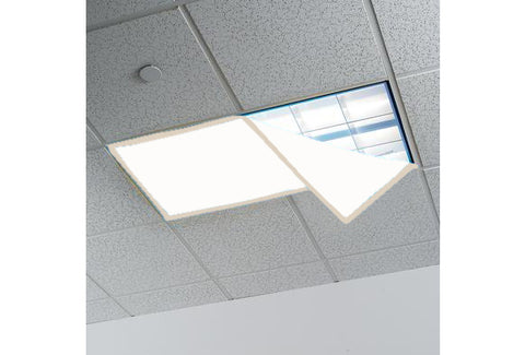 Fluorescent Light Covers for Classroom or Office, 48 x 24 inches - Set of 4 - Off White/Beige