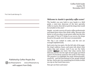 Coffee Field Guide / Austin
