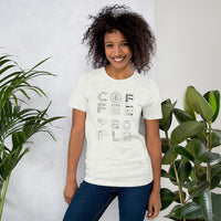 "Artist's Series / ""LITERALLY Coffee People"" (Tshirt) by Sarah Ball"