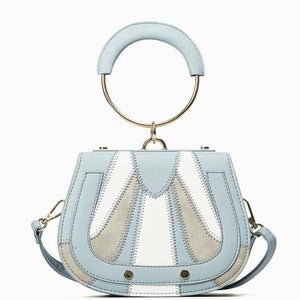 Stitch Detail Crossbody Bag - Blue