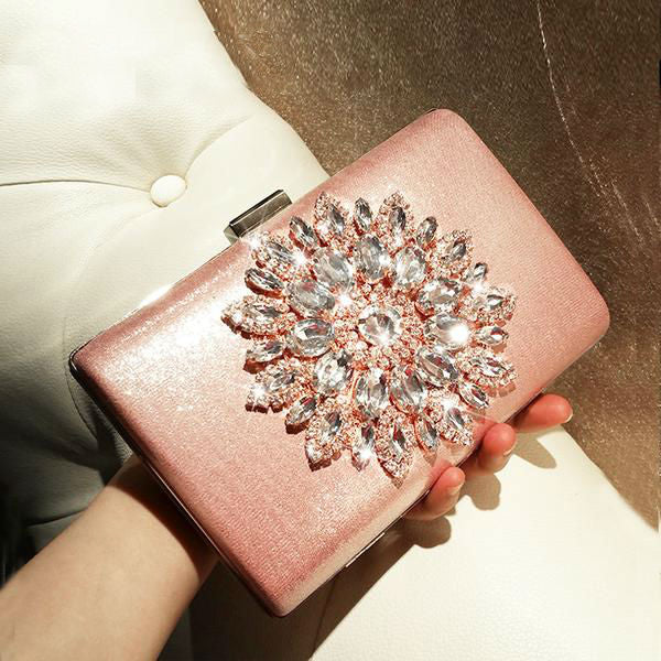 Sun Crystal Clutch Bag