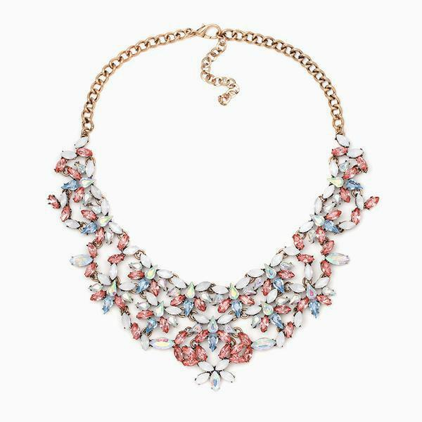 Crystal Pastel Statement Necklace