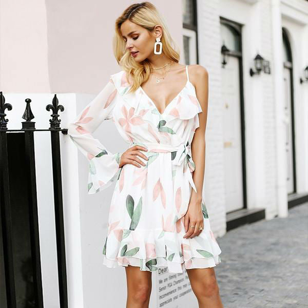 Floral One Shoulder Dress