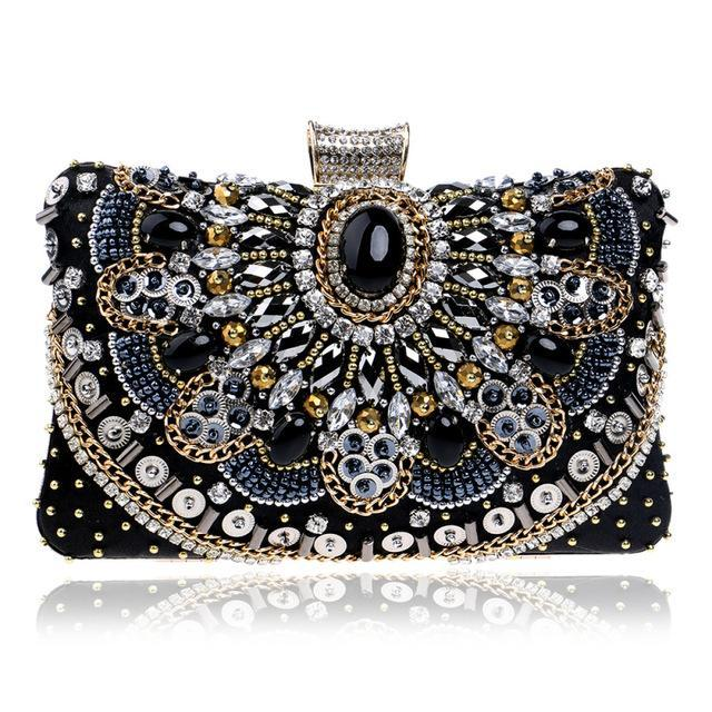 Embellished Bead Clutch Bag