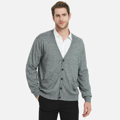 Cashmere V-Neck Sweater Cardigan