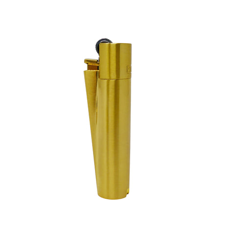 Polished Metal Clipper Lighter - Gold w/ Gift Tin - Mary Jane Glass Gallery