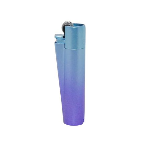 Polished Metal Clipper Lighter - Blue Gradient w/ Gift Tin - Mary Jane Glass Gallery