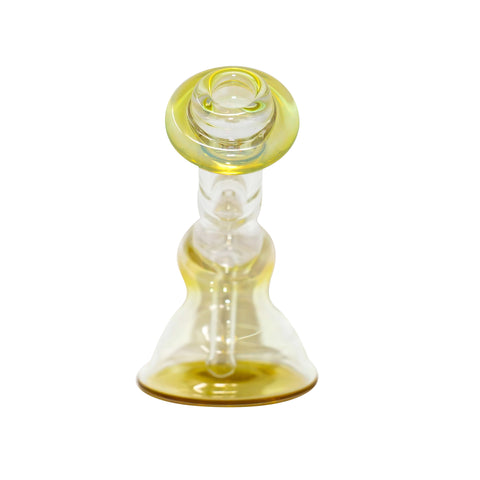 Jam Solo Fumed Orbiter - Clear & Gold - Mary Jane Glass Gallery