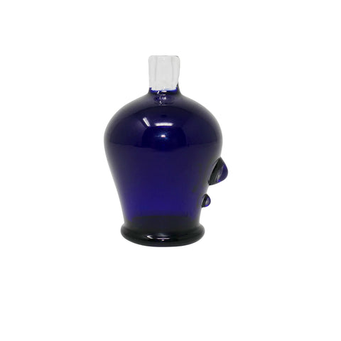 Glass Charlie Bubble Cap - Navy with detail | Mary Jane Glass Co.