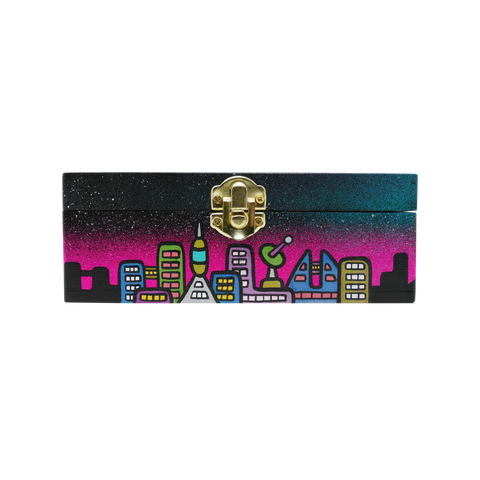 The Creature Emporium Rolling Box - Limited Edition City in Space (Pink)