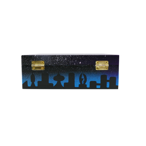 The Creature Emporium Rolling Box - Limited Edition City in Space (Blue)