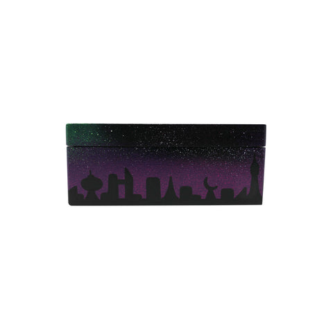 The Creature Emporium Rolling Box - Limited Edition City in Space (Purple)