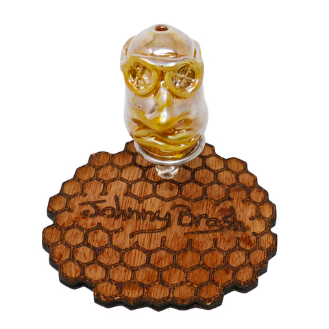 Johnny Brash Bubble Cap - Gold Fumed Double Face - Mary Jane Glass Gallery