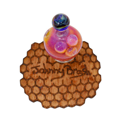 Johnny Brash Bubble Cap - Raspberry Peach - Mary Jane Glass Gallery