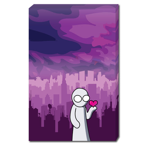 The Creature Emporium - Have a Heart - Large Limited Edition Canvas Print