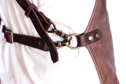 brown leather apron buckles Ellenic Australia