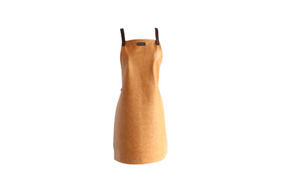 Tan Leather Apron - No Pockets