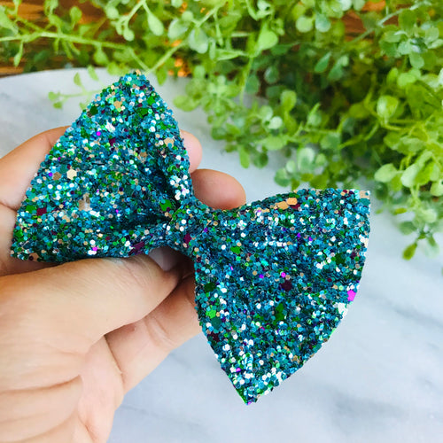 GLITTER - Peacock Bow