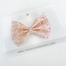 GLITTER - Just Peachy Bow