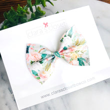 FAUX LEATHER - Lush Blush Floral Ava Bow