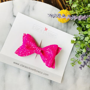 GLITTER - Strawberry Margarita Evelyn Bow