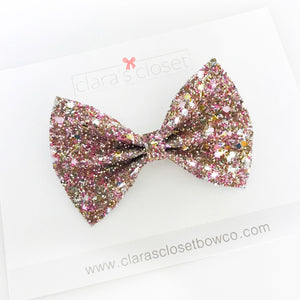 GLITTER - Golden Peonies Bow