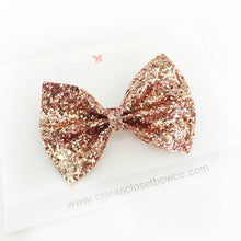 GLITTER - Rose Gold Bow