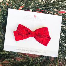 GLITTER - Lacy Red Ivy Bow
