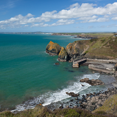 View over Mullion Cove, Cornwall