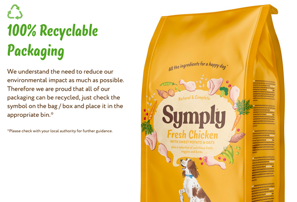 Symply Dog Food - Recyclable Packaging
