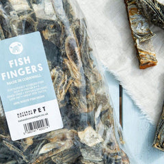 bag of Cornish Fish Fingers for dogs BY NATURAL CORNISH PET