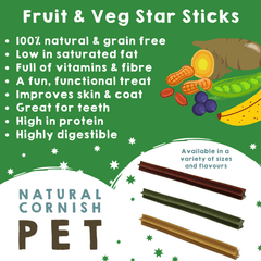 Picture of Fruit & Vegetable Star Stick Singles with poster of facts